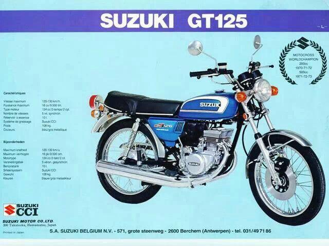 Suzuki Japan Gt 125 Suzuki Bikes Suzuki Motorcycle Riding Gear