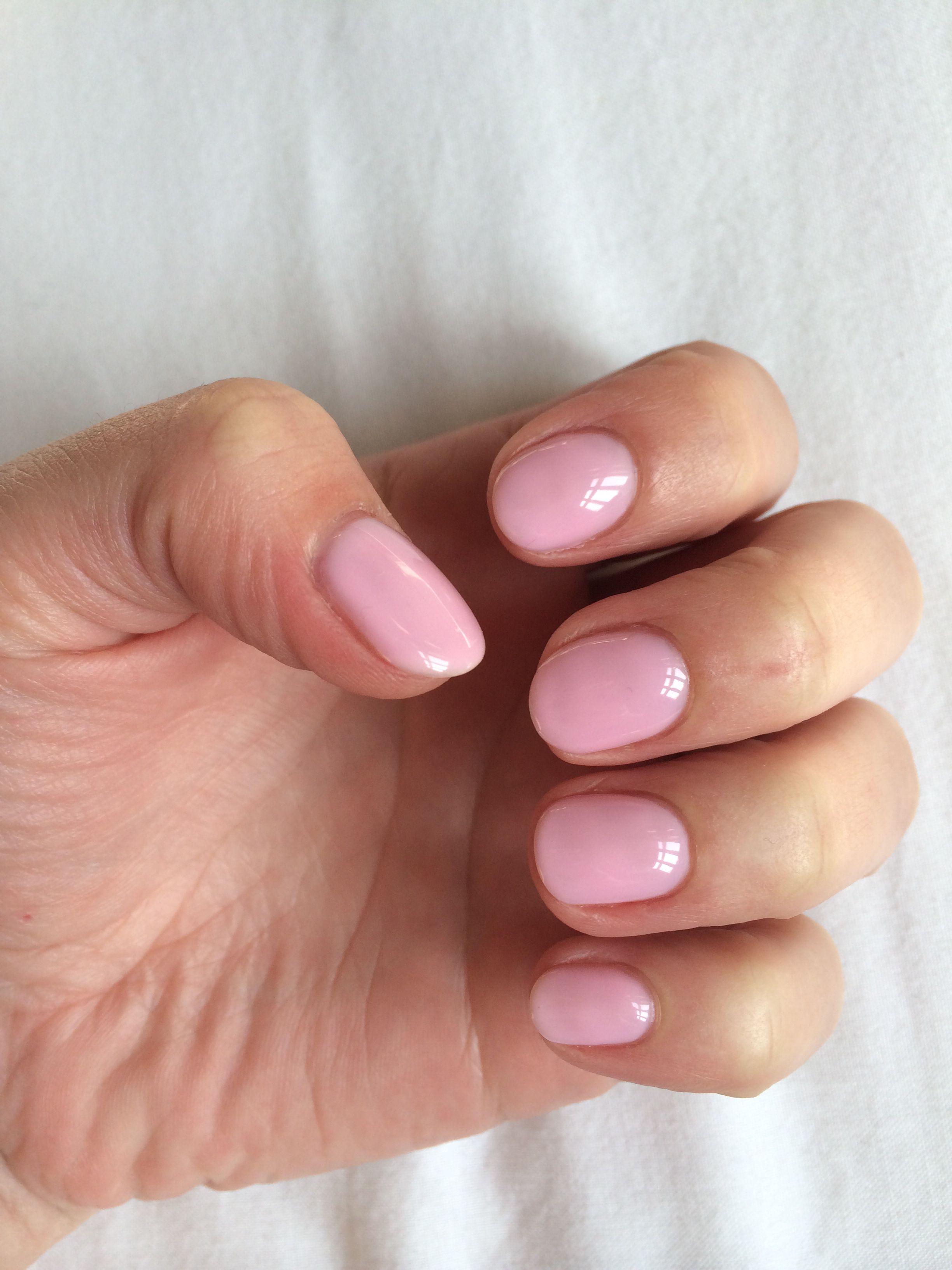 Sensationail pink chiffon... DIY gel polish nails. Really easy and ...