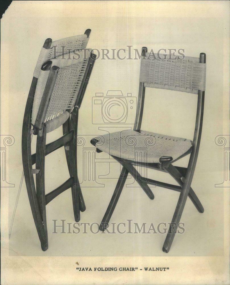 1964 Press Photo Java Folding Chair Walnut Steven Well Rru71375