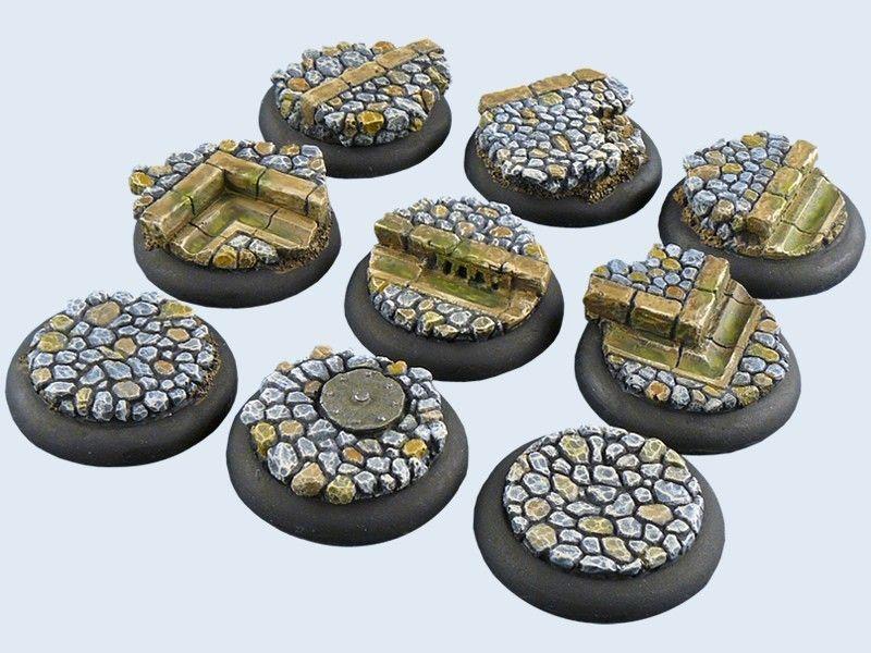 30mm Round Lipped Cobblestone Scenic Resin Bases Warmachine Hordes Malifaux