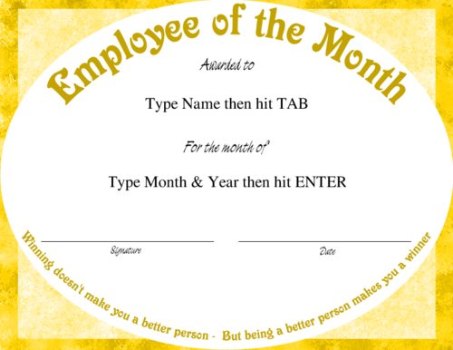 Employee certificate template word image collections certificate free employee of the month certificate template word image employee of the month certificate template word yelopaper Choice Image
