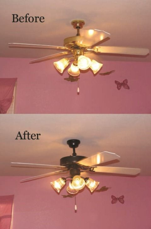 Tutorial for spray painting your builders grade ceiling fan less tutorial for spray painting your builders grade ceiling fan less than 2 hours start mozeypictures Choice Image