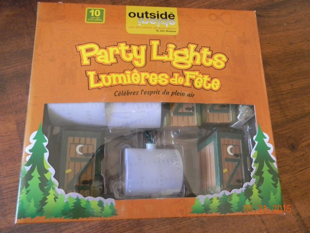 Outhouse Tissue Party Lights String Camper Awning NEW In Box FUN ITEM OUTSIDEINSIDE