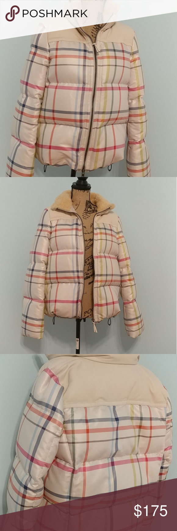Large Coach Puffer Jacket Leather Trimmed Clothes Design Puffer Jackets Leather Jacket [ 1740 x 580 Pixel ]