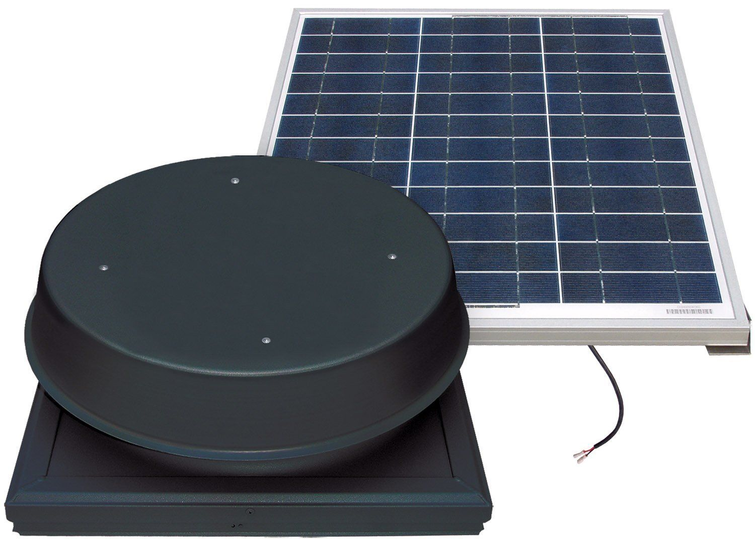 Natural Light 60 Watt Curb Mount Solar Attic Fan Black Click Image To Review More Details Solar Attic Fan Porch Lighting Solar