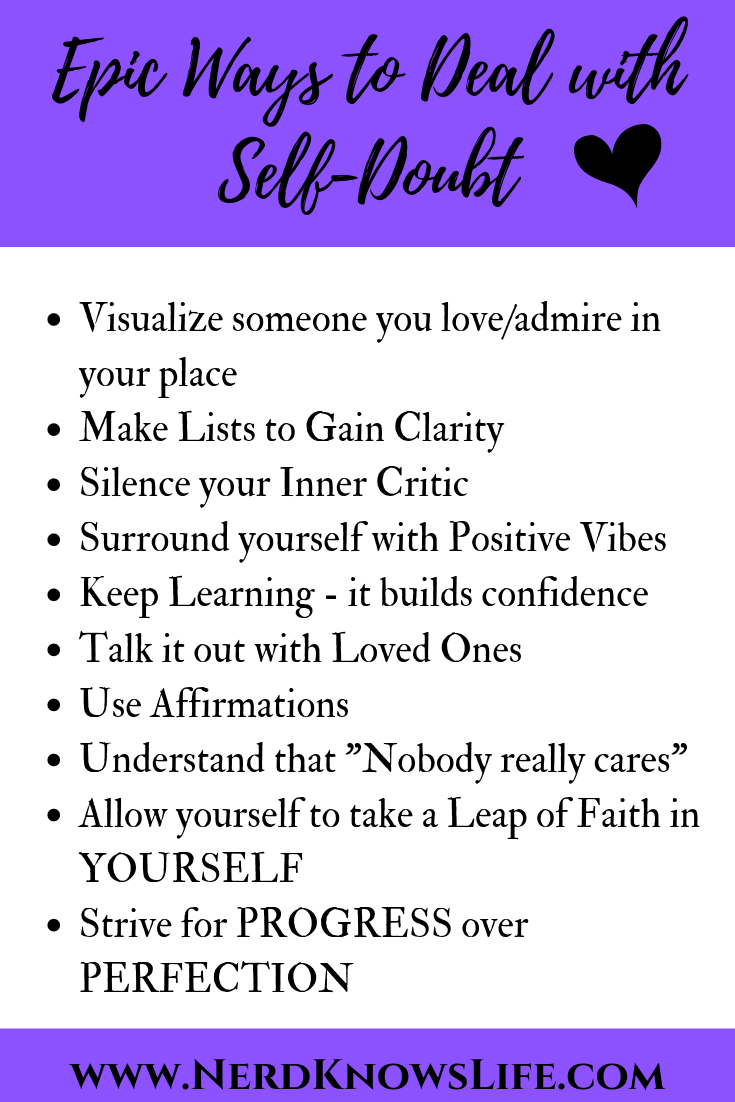 Epic Ways to Deal with Self-Doubt