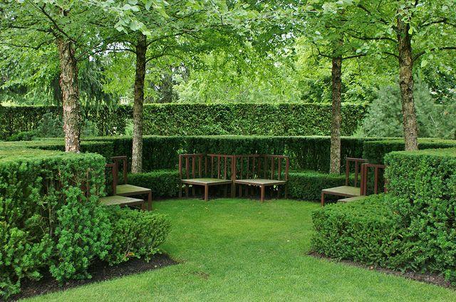 Angled Hedges Garden Hedges Garden Design Traditional Landscape