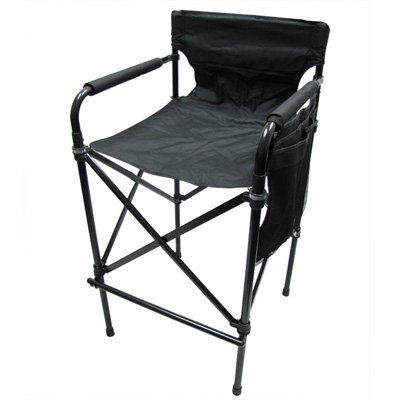 Tall Folding Chairs Directors Pottery Barn Chair And A Half Slipcover Telescopic Camping Carry Case Included Check Out This Great Product