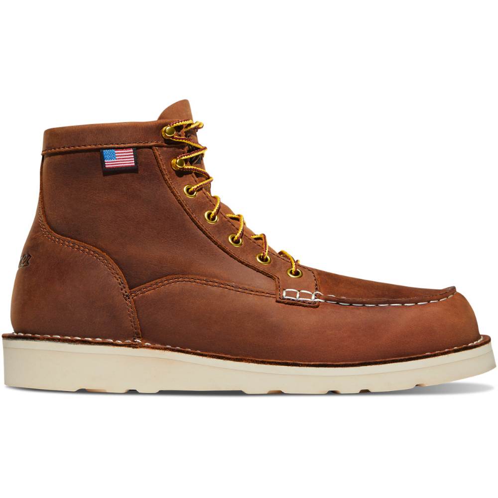 """Bull Run Moc Toe 6"""" Tobacco Leather boots, Running, Leather"""