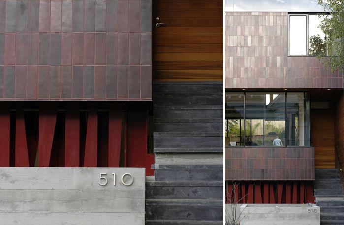 exterior tile wall installation. installation inspiration - heath ceramics exterior tile wall