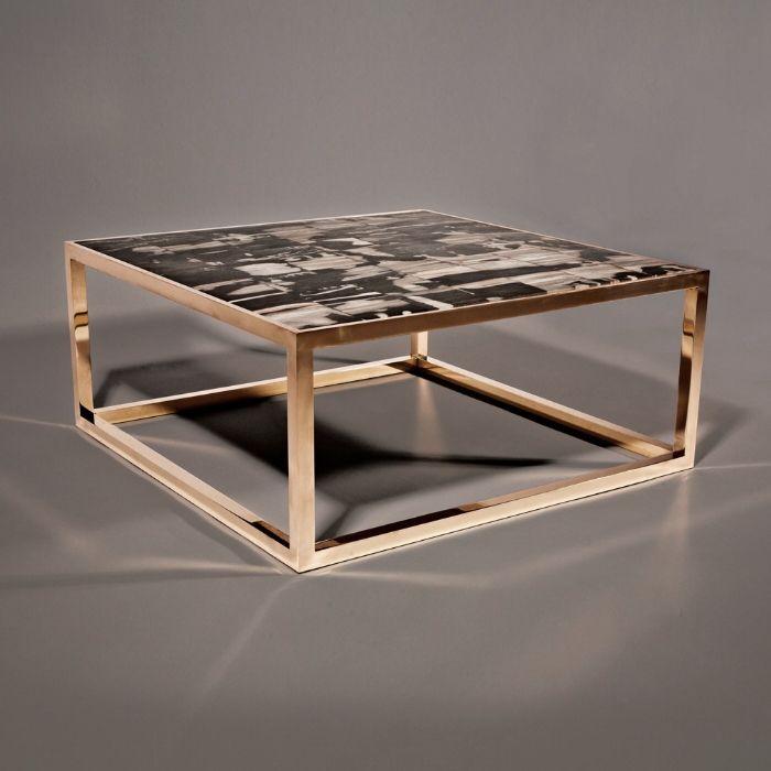petrified wood coffee table petrified wood tiles with bronze base