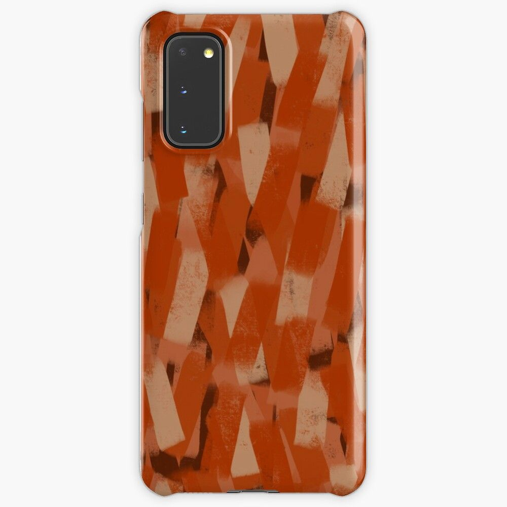 Burnt Orange Rust Striped Smudge Pattern Case Skin For Samsung Galaxy By Onethreesix Redbubble In 2020 Burnt Orange Pattern Pattern Case