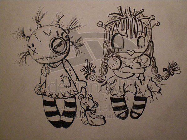rag dolls by chitchi voodoo doll pinterest tattoo ideen tattoo vorlagen und zeichnen. Black Bedroom Furniture Sets. Home Design Ideas