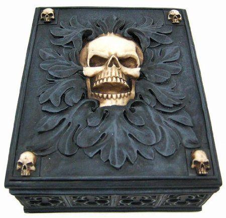 Amazon.com: Creepy Gothic Skull Jewelry / Trinket Box Valet: Home & Kitchen