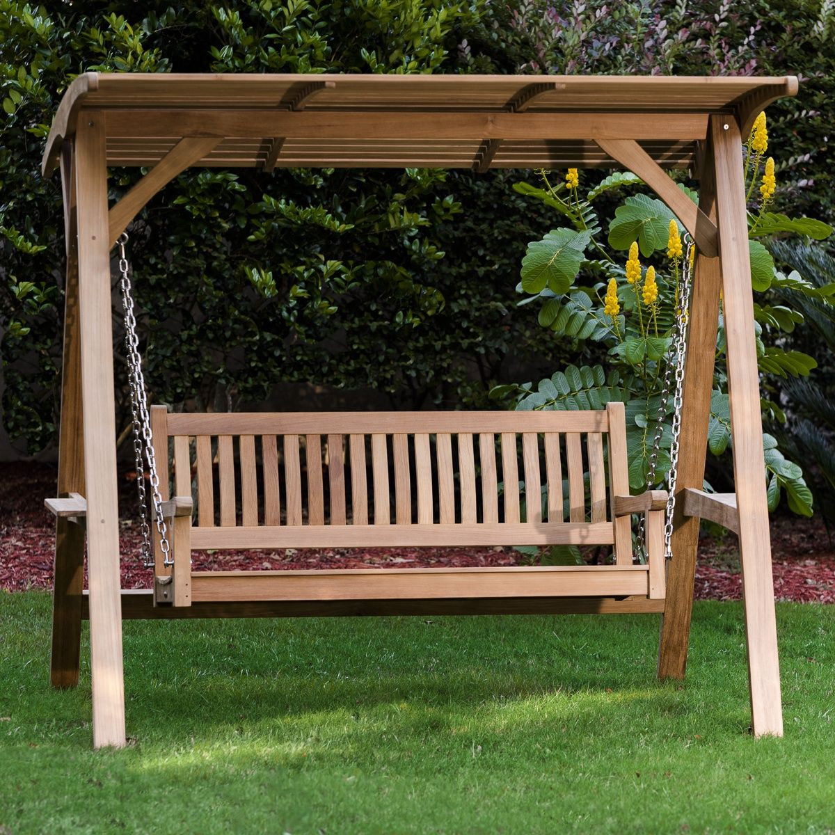 Veranda Swinging Bench With Canopy Westminster Teak Garden Swing Seat Garden Swing Wooden Garden Benches