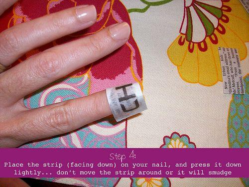 Newsprint Nail Art Instructions I Did It Thanks Pinterest