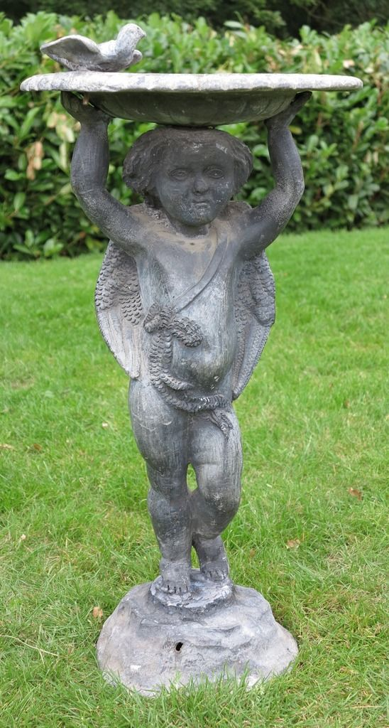 Antique Lead Reclaimed Garden Bird Bath is available to purchase ...