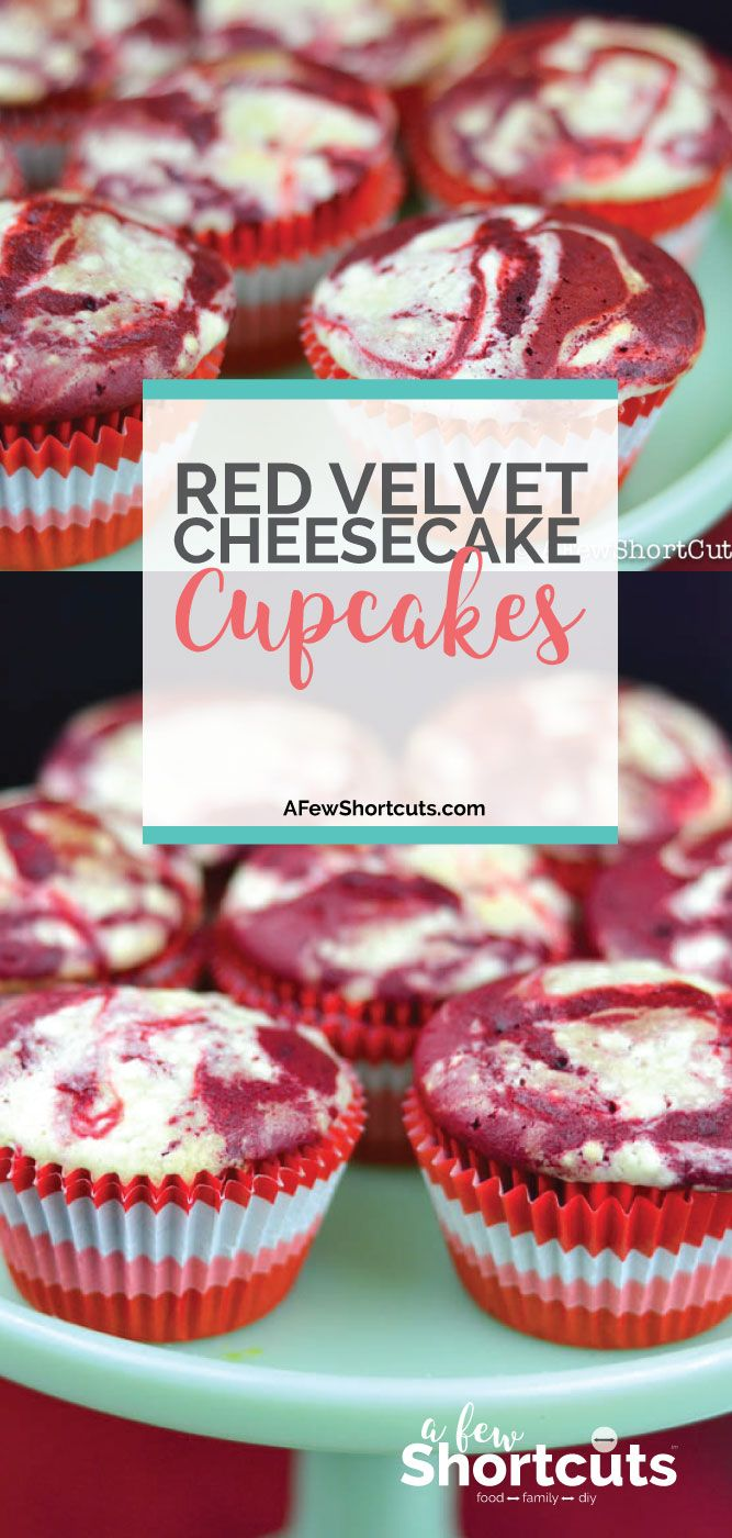 Red Velvet Cheesecake Swirl Cupcakes Rezept Cupcakes Fit For A