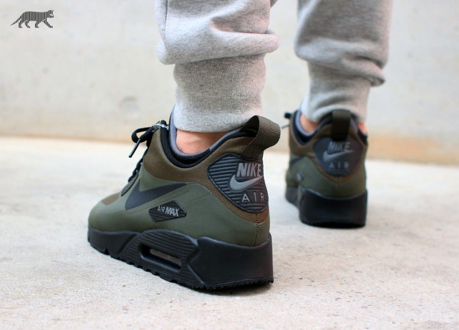 Nike Air Max 90 Mid Wntr (Dark Loden / Black - Dark Grey)