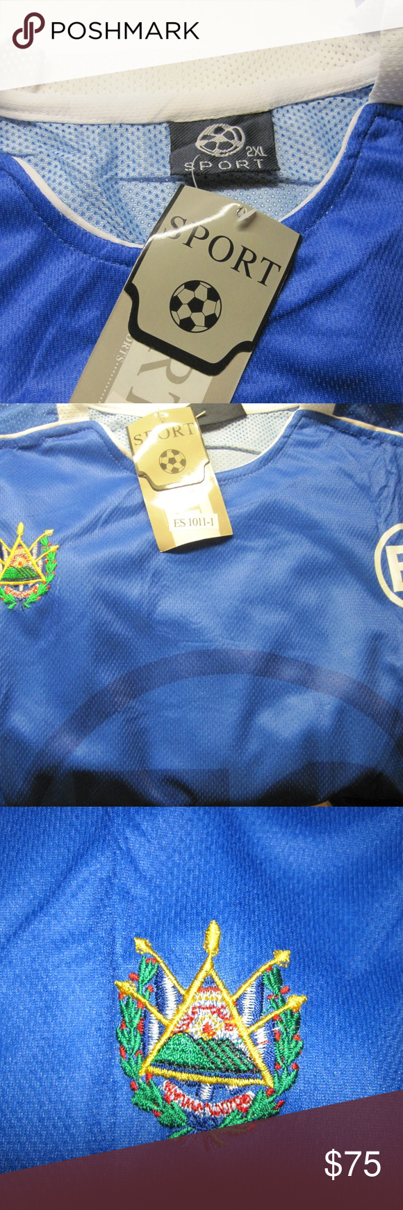 4c5bdc4e8 2XL Men s Soccer Jersey with Emblem of El Salvador Limited and hard-to-find  jersey. See photos for additional details. Shirts