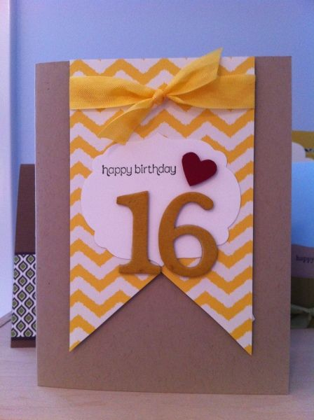 10 Sweet 16 Ideas Birthday Cards Cards Handmade 16th Birthday Card