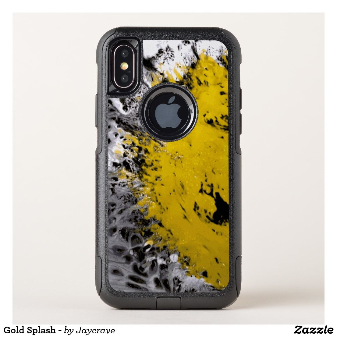 Gold splash otterbox iphone case with