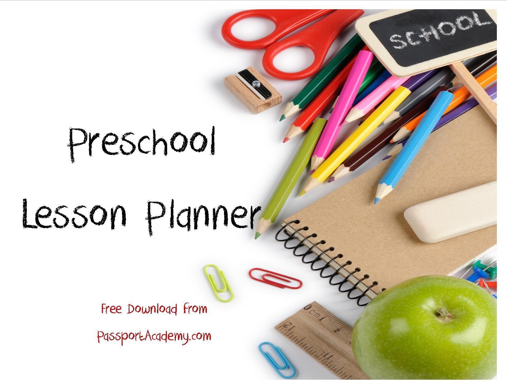 Organizing For Preschool My Preschool Lesson Planner