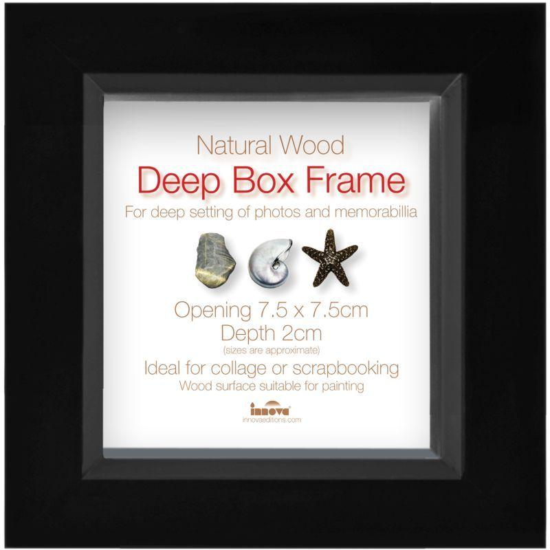 Innova Editions Black Deep Box Frame 7.5 x 7.5 cm | Clay and paste ...