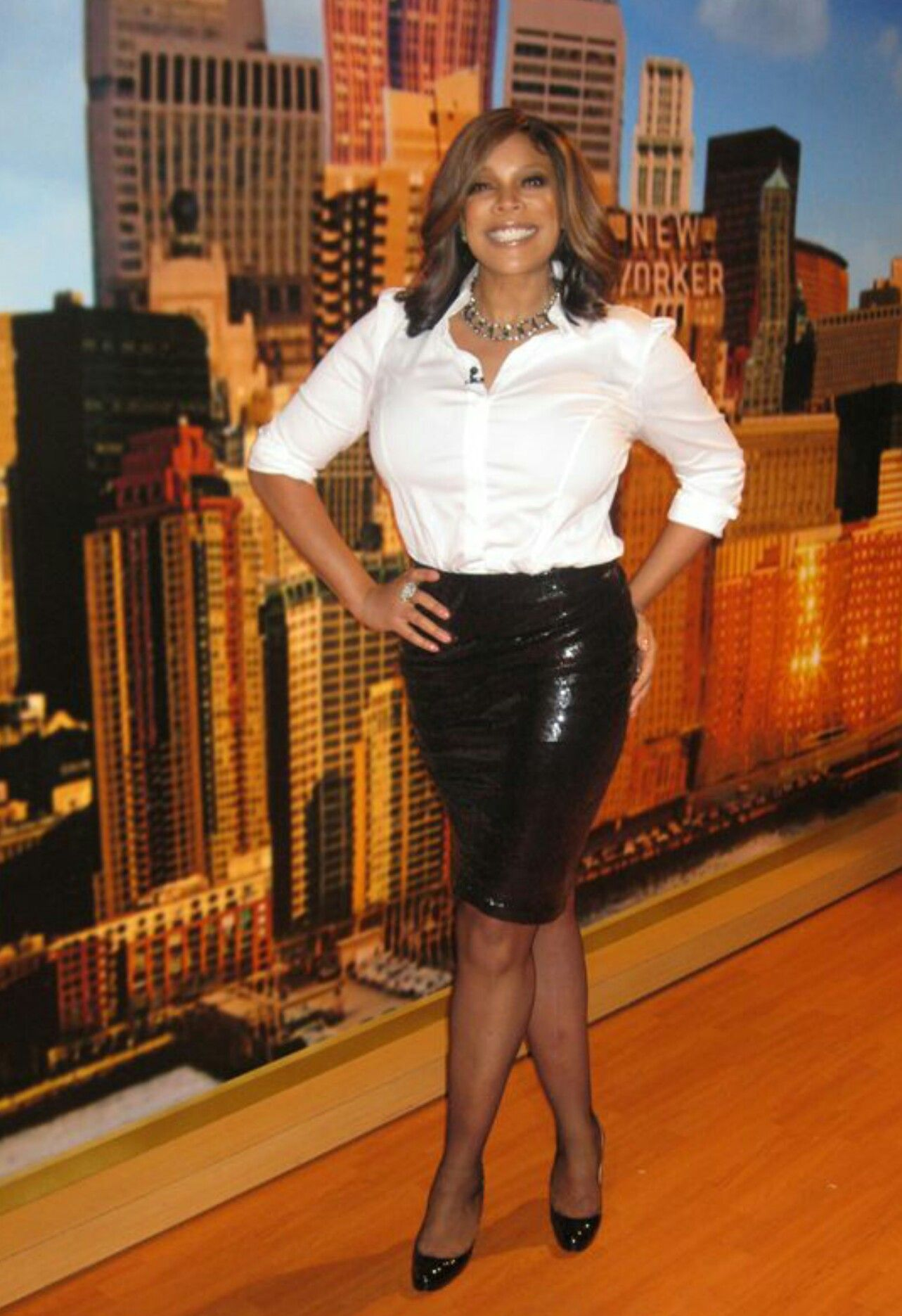 5f3cf4d59 Wendy Williams | Wendy Williams | Leather skirt, Skirts, Fashion