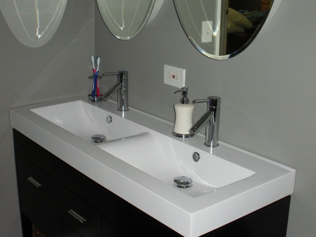 Install Trough Sink Bathroom   Http://mybathroomideas.net/install Trough