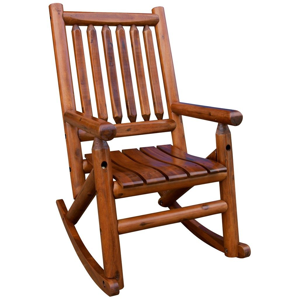 Amber Log Wooden Rocker Rocking Chair