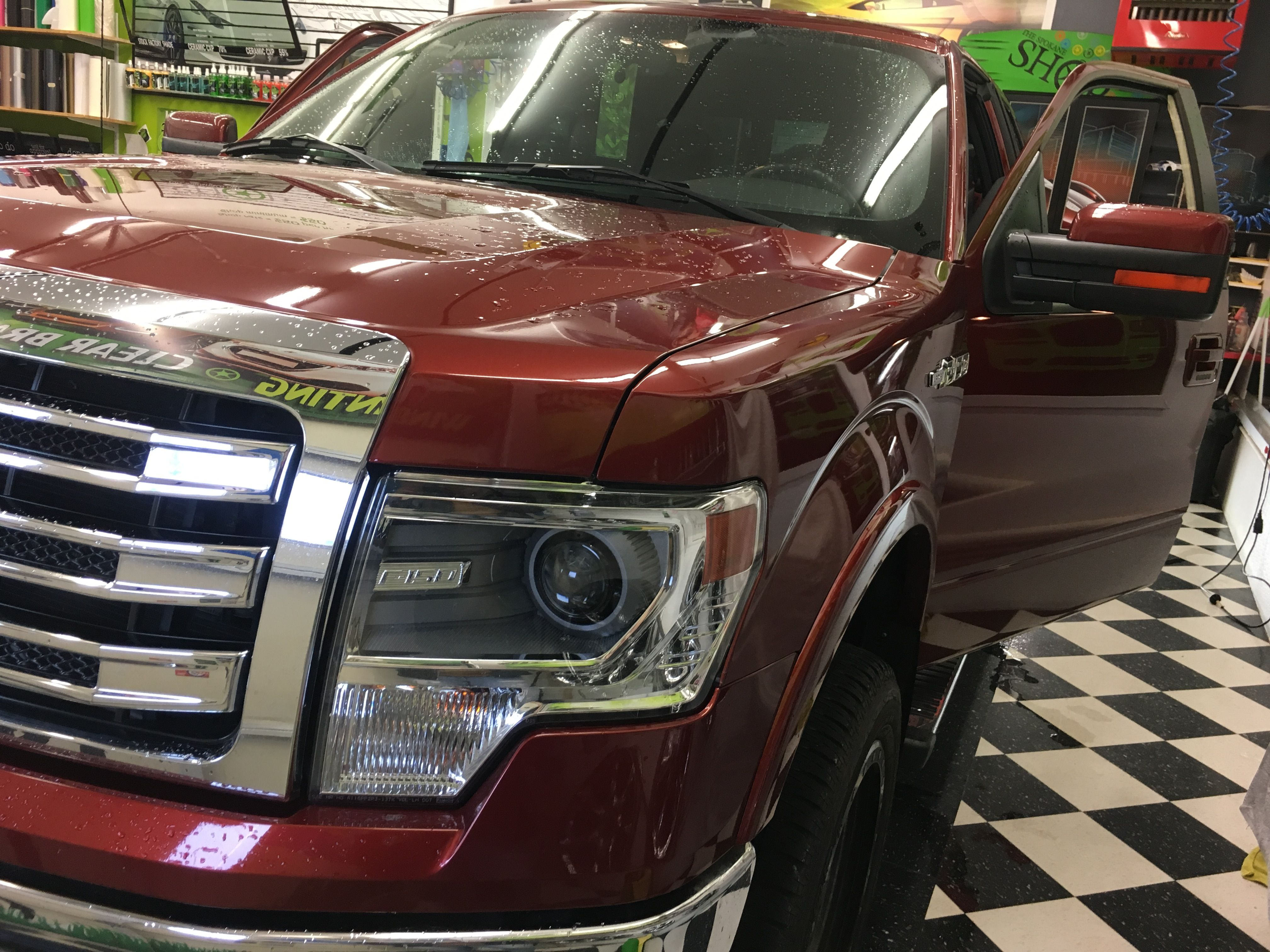 This Beautiful F 150 Got It S Windows Tinted And It Looks Fabulous Good Job Nick Thoughts Ford Commercial Window Tinting Tinted Windows Paint Protection