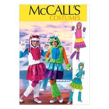 McCall's Pattern M6816-Girls'/Girls' Plus Monster Costumes