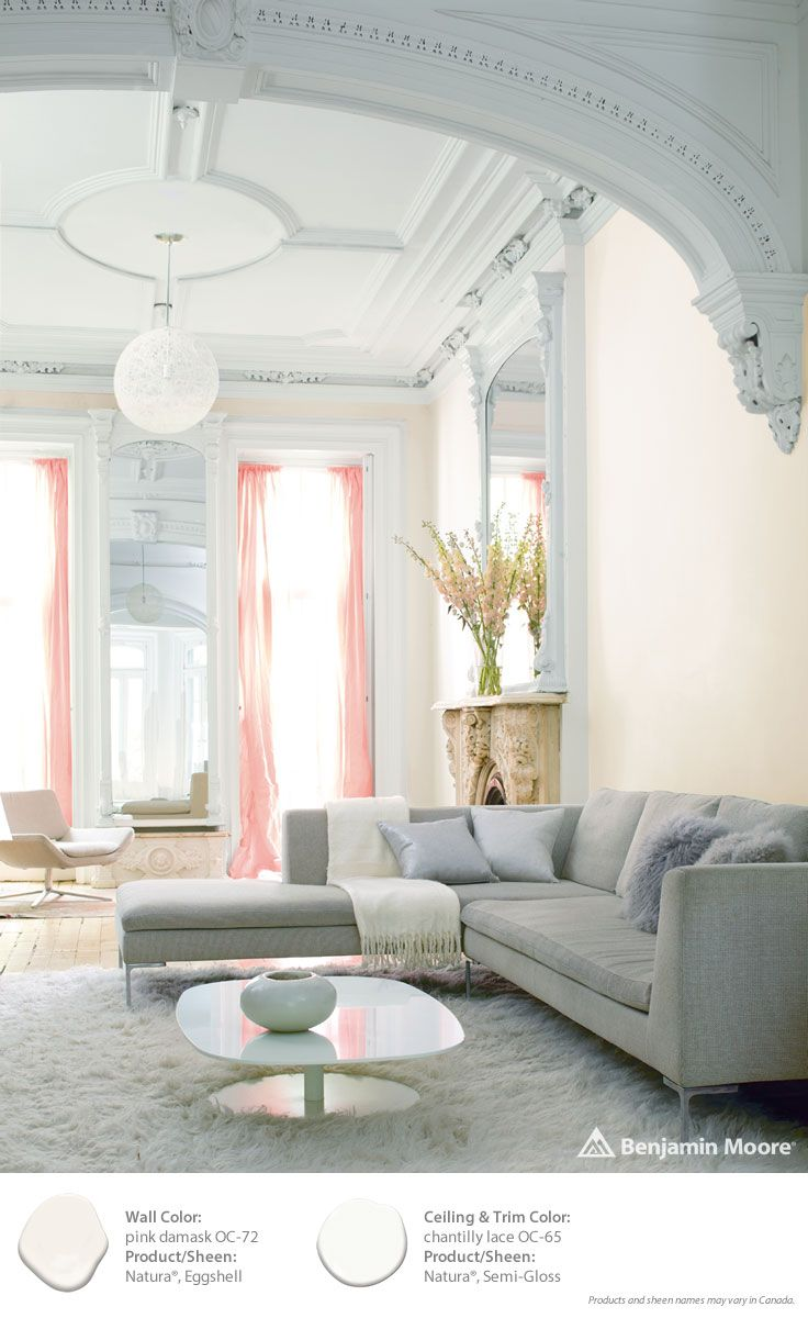 Benjamin Moore Oc 20 Color Overview 2015 Color Trends Pink Damask And Chantilly Lace