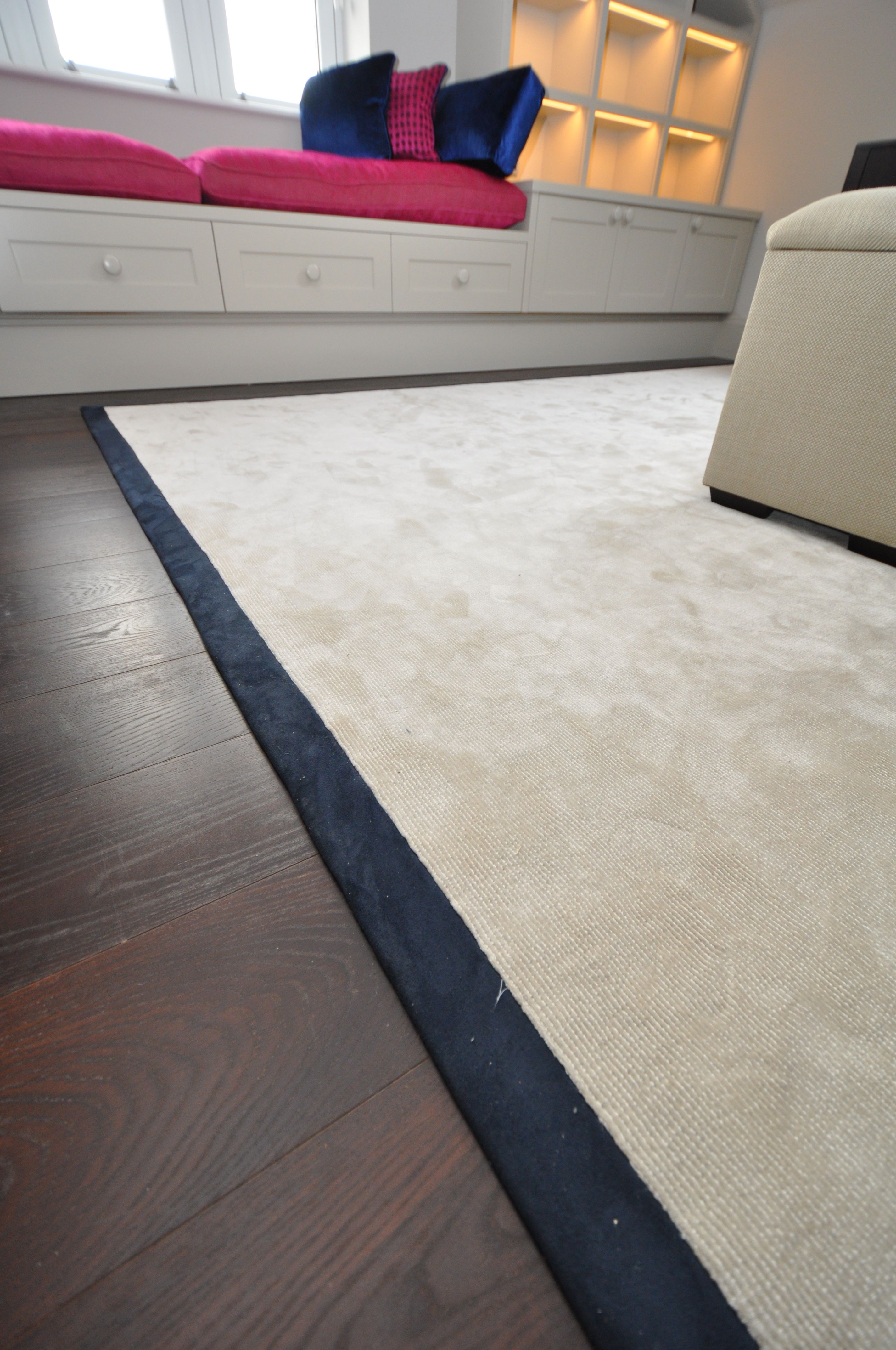 Various Wool Silk Rugs Bound With Suede Linen Sch Tapes Interiors By
