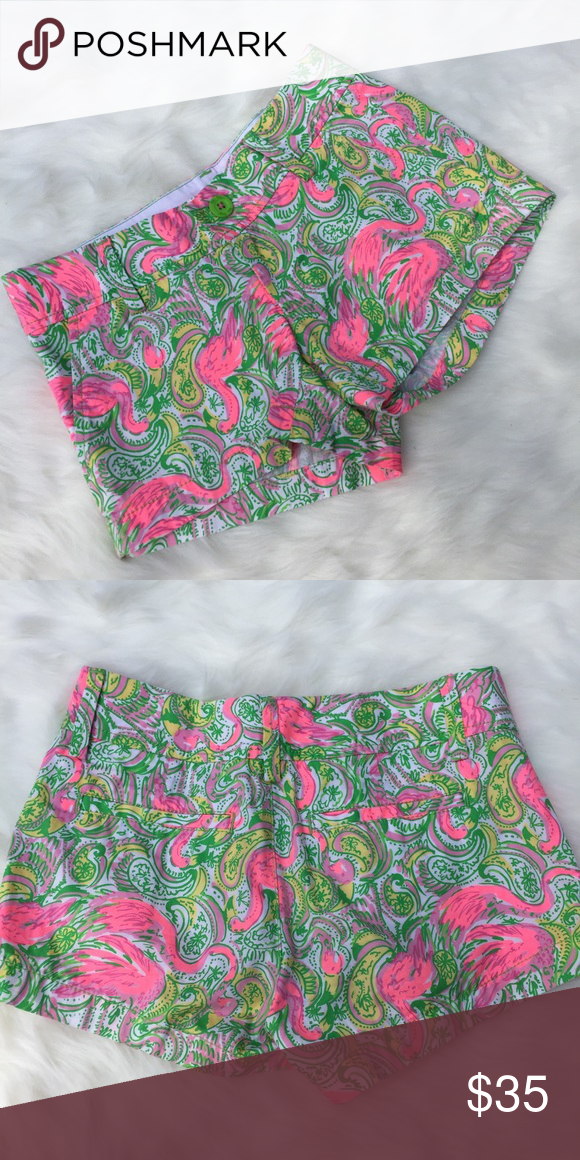 Size 000 Lilly Pulitzer Shorts Great condition only worn once. Size 000. Selling because they are too big for me. Lilly Pulitzer Shorts