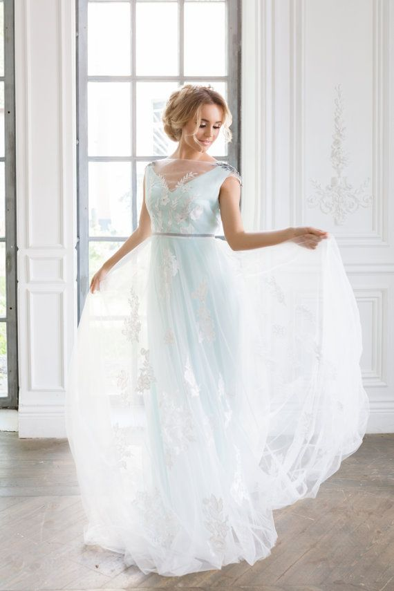 Blue Wedding Dresses For Brides Looking For That Something Blue