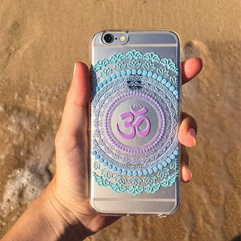 Om Mandala Lotus Phone Case For iphone 6 6s Plus Cases Soft TPU ...