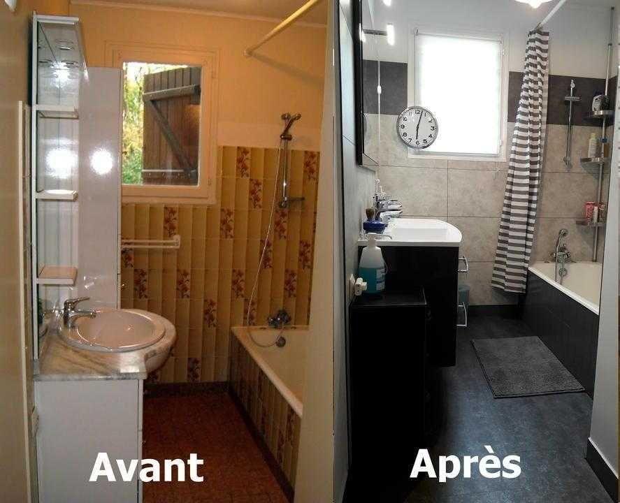 Comment rénover une salle de bain avec des dalles Dumawall #homestagingavantapres