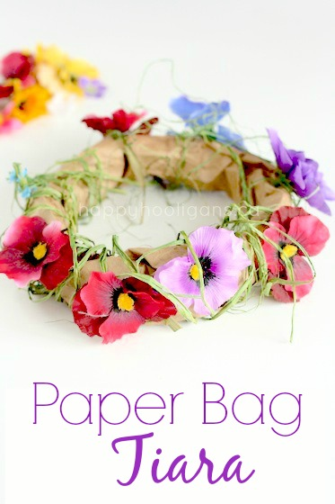 Paper Bag Tiara for a Fairy or Princess - Happy Hooligans