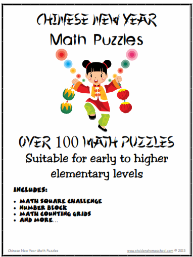 100 chinese new year themed math puzzles gr1 4 st aidens homeschool themes seasonal holidays math printable games worksheets printables