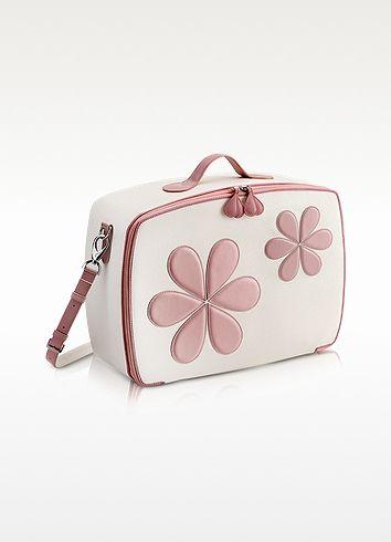 Pink Flower Mini Travel Bag  - Pineider - $672