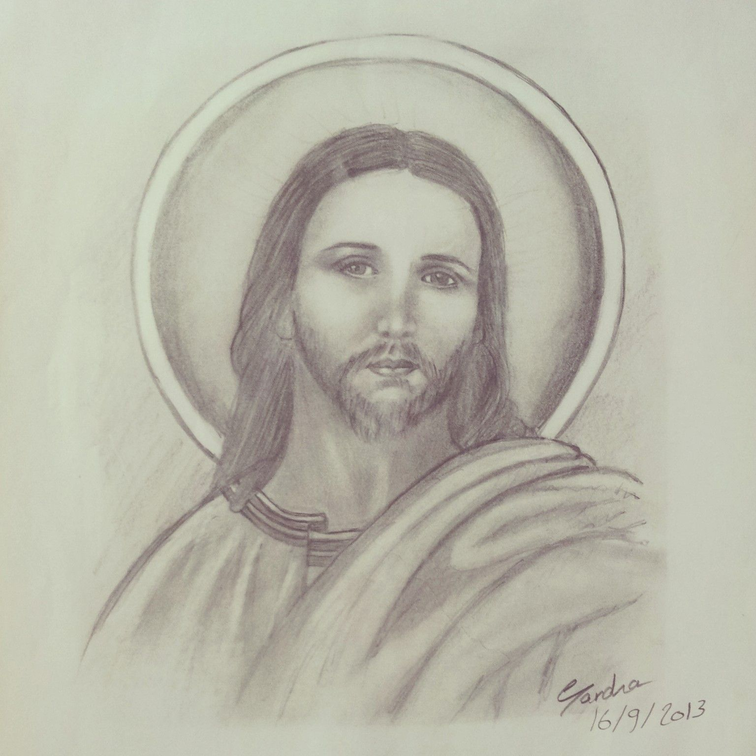 Jesus christ pencil sketch art with pencils sketches drawings