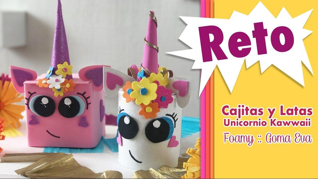 Reto Unicornio Kawaii en Cajitas y Latas    Chuladas Creativas ... 7018eb700f8