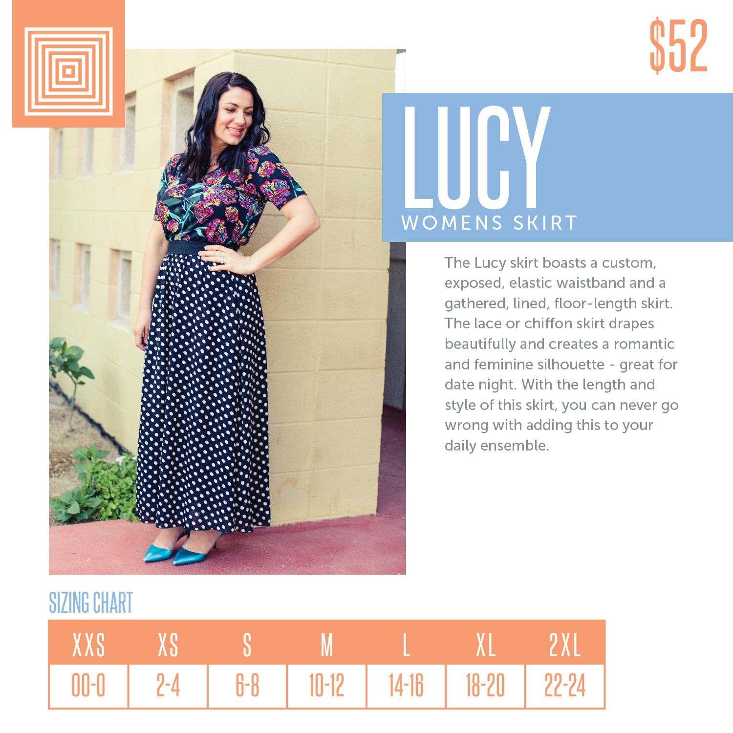 475a3a7bf66afb Floor-length, double-layered Maxi skirt. Click the image to join my group  and browse my selection #lularoelucy