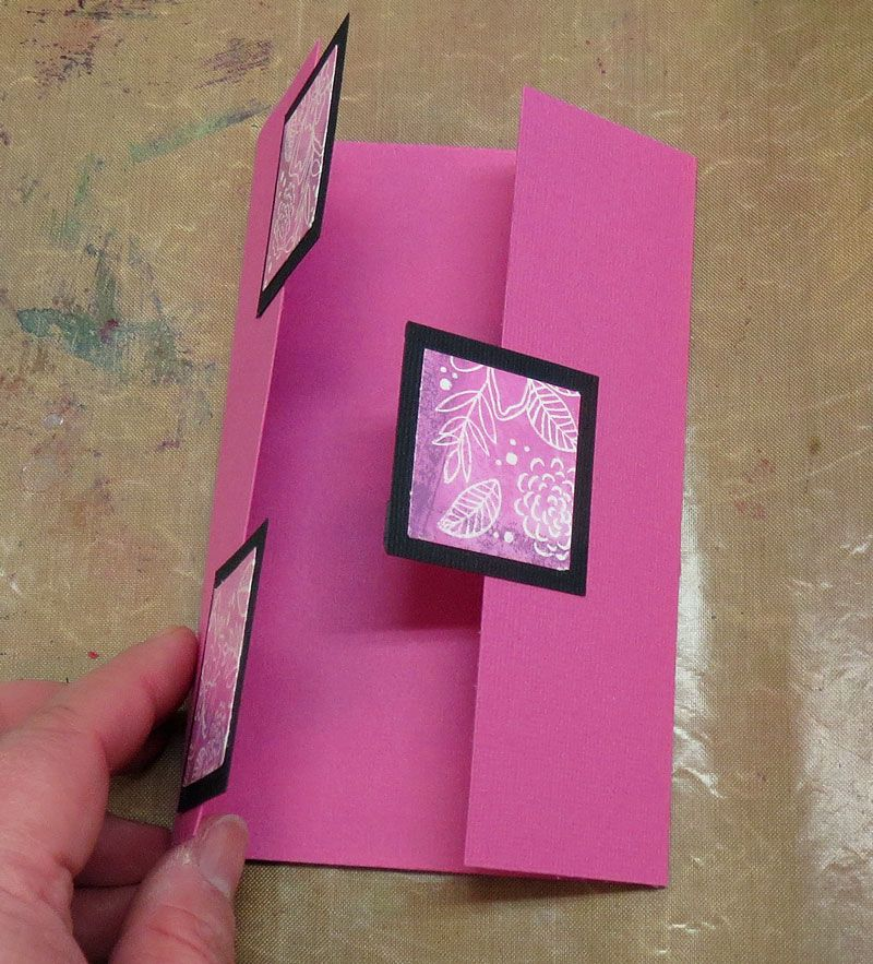 Hobbyboden's Blog: How-to: Gatefold-card med firkanter