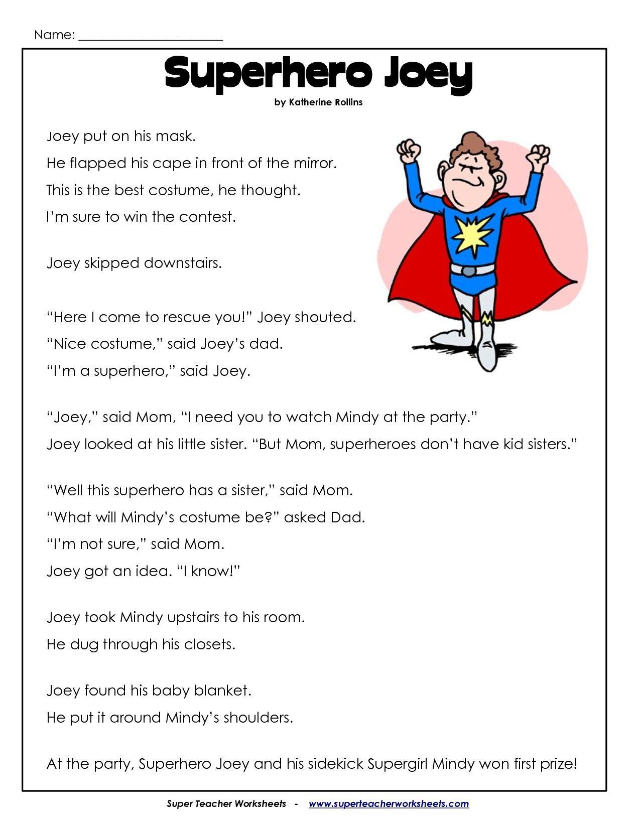 Second Grade Reading Comprehension Worksheets   Kiduls Printable   2nd grade  reading worksheets [ 1650 x 1275 Pixel ]