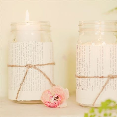 Page-Wrapped Candles