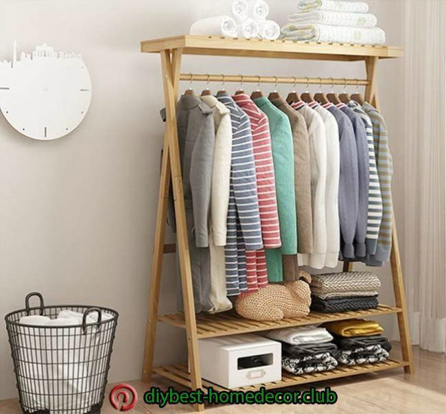 Diy Home Decoration Diy Home Decoration In 2020 Garderobe Selber Bauen Kleiderstange Kleiderstander