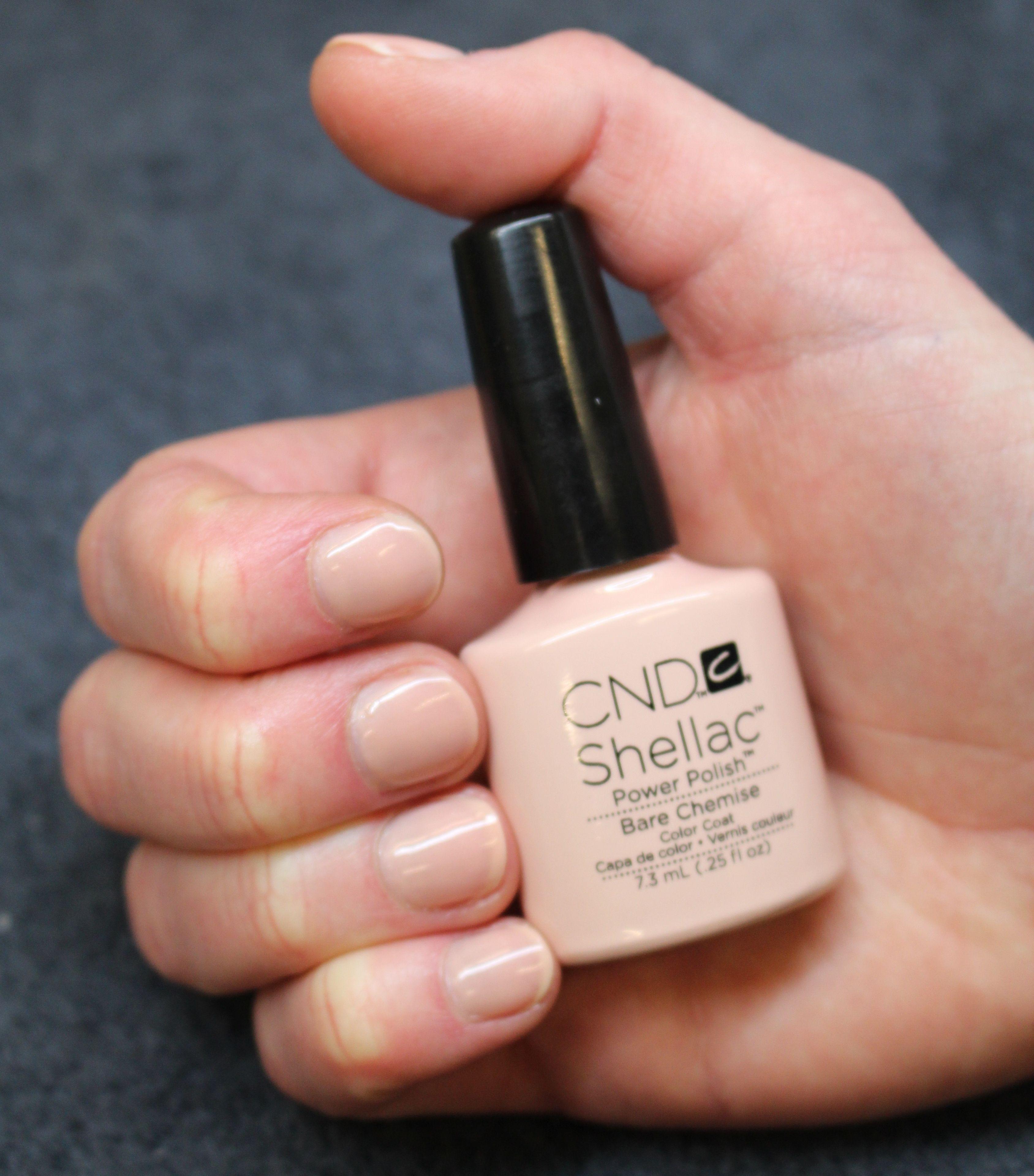 CND Bare Chemise - Der #CND Shellac Bare Chemise ist ein beiger Ton ...
